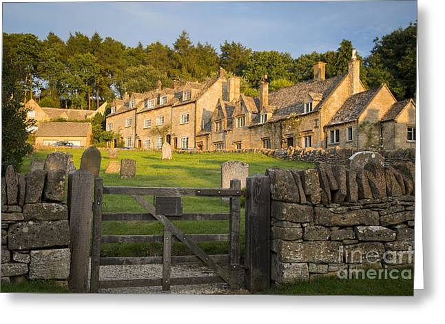 Headstones Greeting Cards - Showshill Evening Greeting Card by Brian Jannsen
