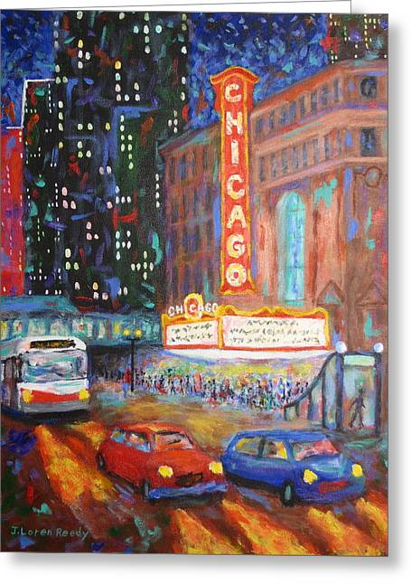 Untied States Artist Greeting Cards - Showtime Greeting Card by J Loren Reedy