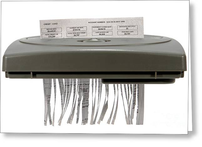 Paperwork Greeting Cards - Shredding Greeting Card by Olivier Le Queinec