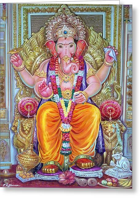 Mayur Sharma Greeting Cards - Shree Ganesh  Greeting Card by Mayur Sharma
