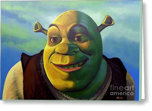 Animate Greeting Cards - Shrek Greeting Card by Paul Meijering