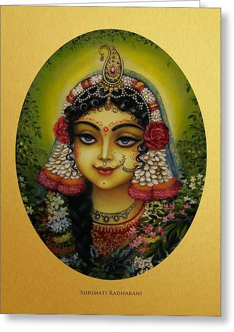Gopi Greeting Cards - Shrimati Radharani Greeting Card by Vrindavan Das