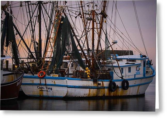 Shrimp Boat Captains Greeting Cards - Shrimp Boat Captain Greeting Card by Brent Paape