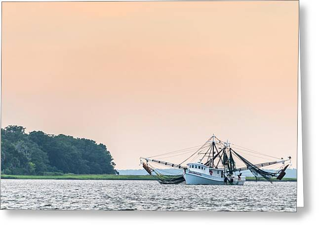 Net Greeting Cards - Shrimp Boat on the Edisto River Greeting Card by Duane Miller