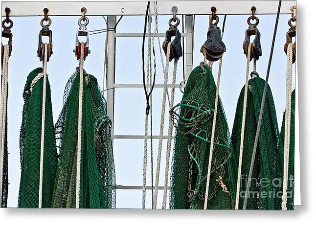 Mississippi Gulf Coast Greeting Cards - Shrimp Nets Greeting Card by Scott Pellegrin