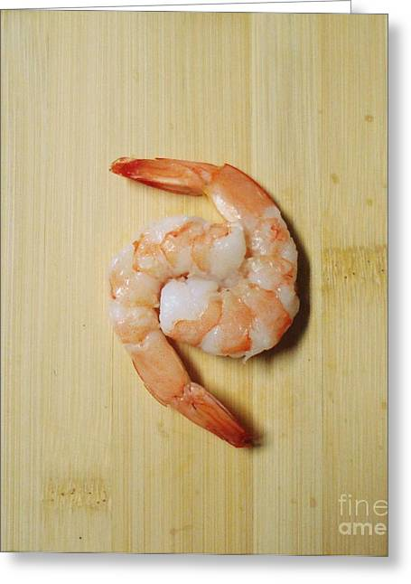 Metal Fish Art Photography Greeting Cards - Shrimp Yin Yang Greeting Card by J L Zarek