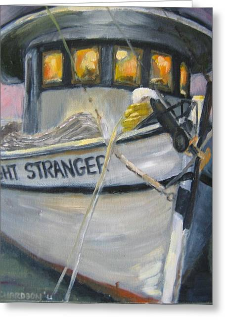 Apalachicola Shrimper Greeting Cards - Shrimping Tonight Greeting Card by Susan Richardson