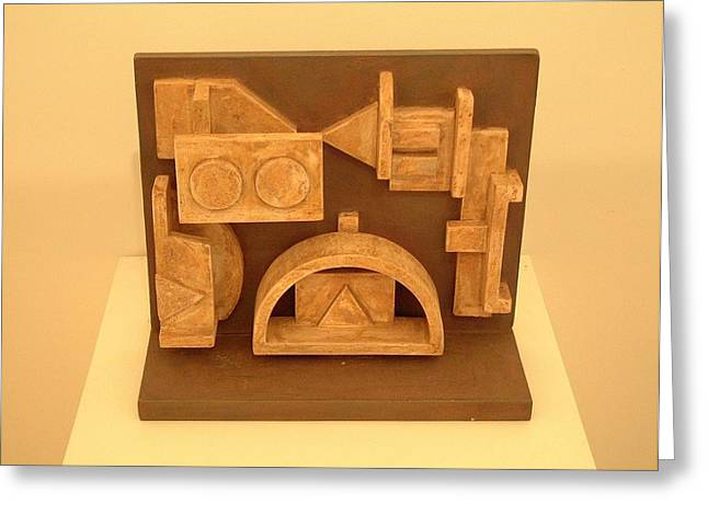 Ceramic Sculptures Greeting Cards - Shrine.04 Greeting Card by Peter-hugo Mcclure