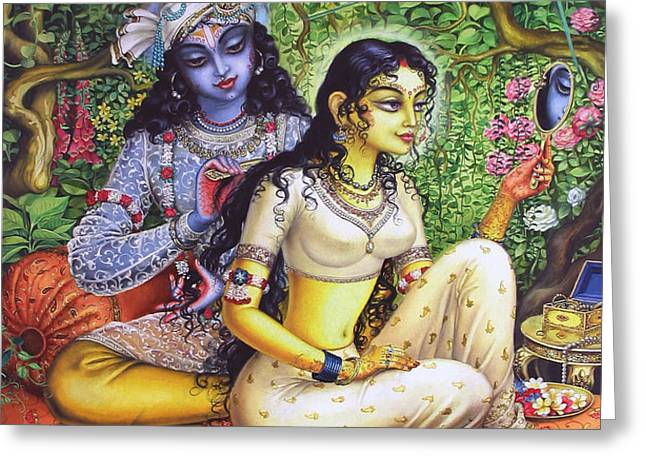 Shringar lila Greeting Card by Vrindavan Das
