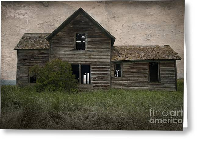 Haunted House Greeting Card Greeting Cards - Shrouded in Mystery Greeting Card by Sandra Bronstein