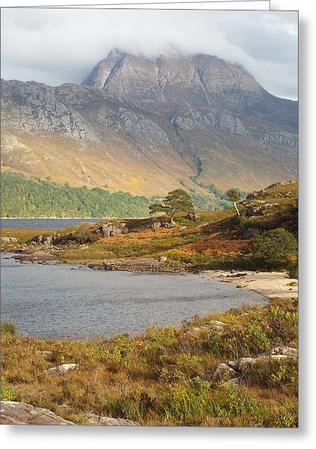 Slioch Greeting Cards - Shrouded Slioch Greeting Card by Dean Stoker