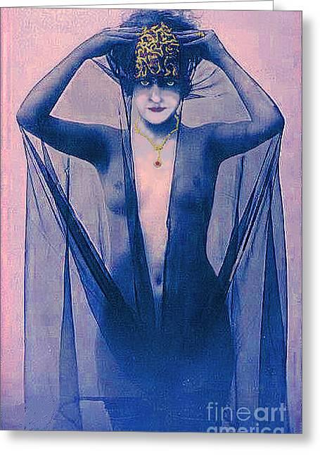 Shrouded Woman Greeting Card by Maureen Tillman