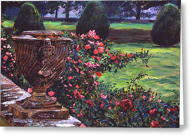 Rose Bushes Greeting Cards - Shrub Roses In Somerset Greeting Card by David Lloyd Glover