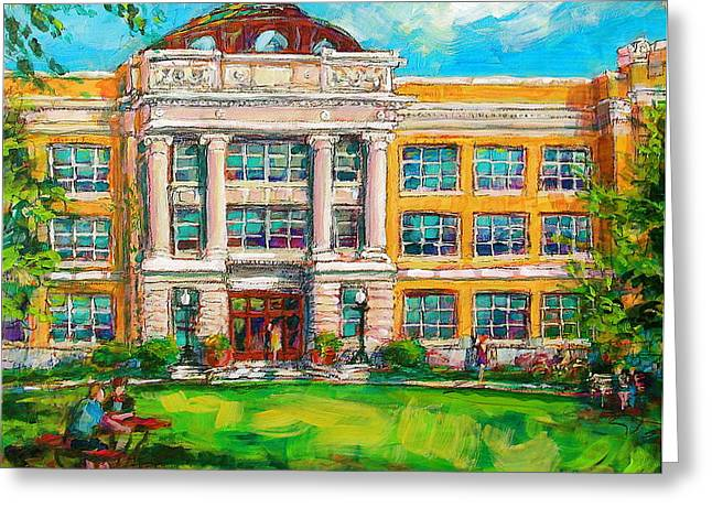 Shorewood Greeting Cards - SHS Pride Greeting Card by Les Leffingwell