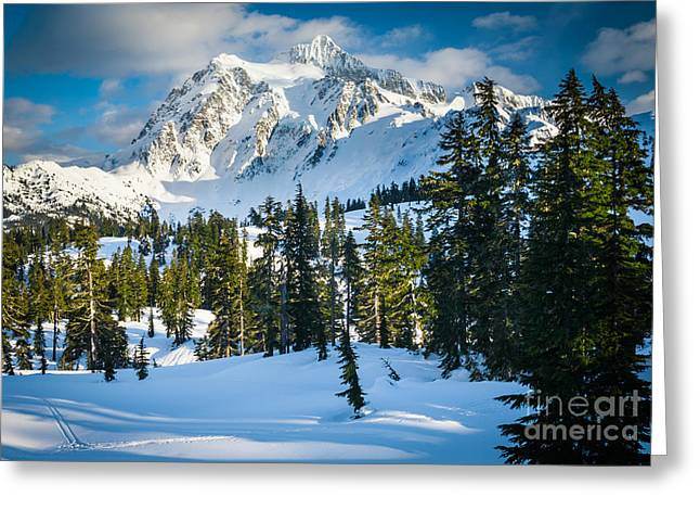 North Cascades Greeting Cards - Shuksan Winter Paradise Greeting Card by Inge Johnsson