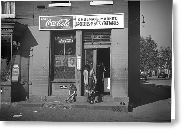 Grocery Store Greeting Cards - Shulmans Market - Washington DC 1941 Greeting Card by Mountain Dreams