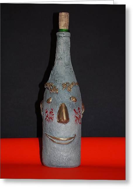 Bottled Sculptures Greeting Cards - Shurda Greeting Card by Zoltan  Kapus