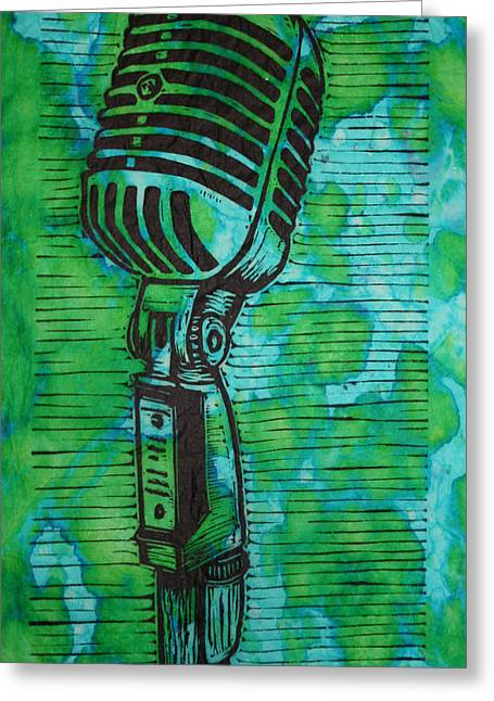 Lino Drawings Greeting Cards - Shure 55s Greeting Card by William Cauthern