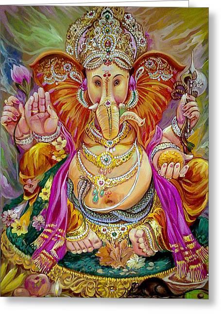 Mayur Sharma Greeting Cards - Shurp Karna Full  Greeting Card by Mayur Sharma