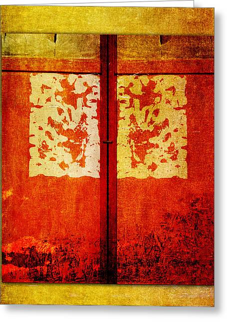 Dramatic Digital Greeting Cards - Shuttered Greeting Card by Carol Leigh