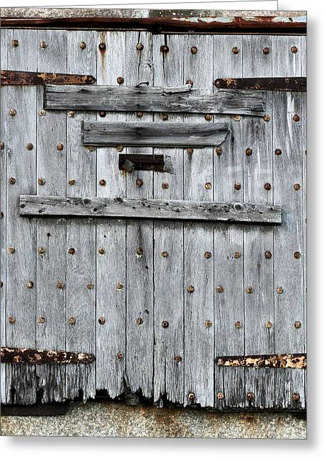 Wooden Shutter Greeting Cards - Shuttered  Greeting Card by JC Findley