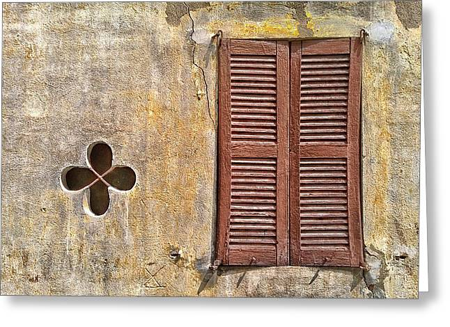 Wooden Shutter Greeting Cards - Shuttered Greeting Card by Mountain Dreams