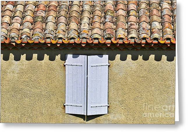 Languedoc Greeting Cards - Shuttered Greeting Card by Nikolyn McDonald