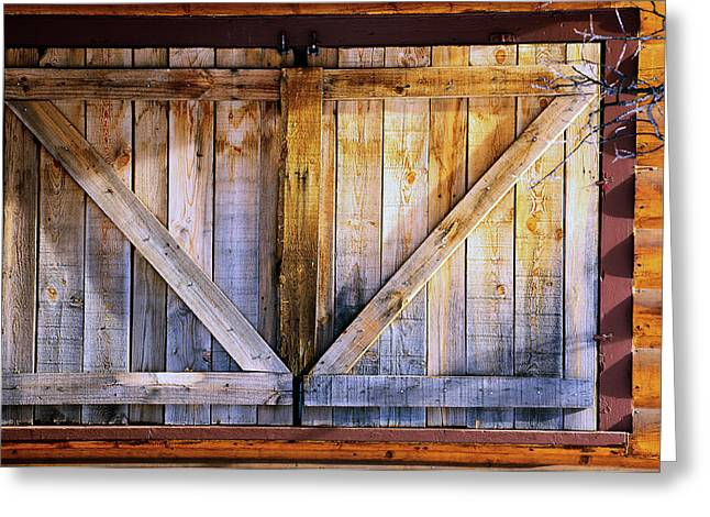 Cabin Window Greeting Cards - Shuttered Greeting Card by The Forests Edge Photography - Diane Sandoval