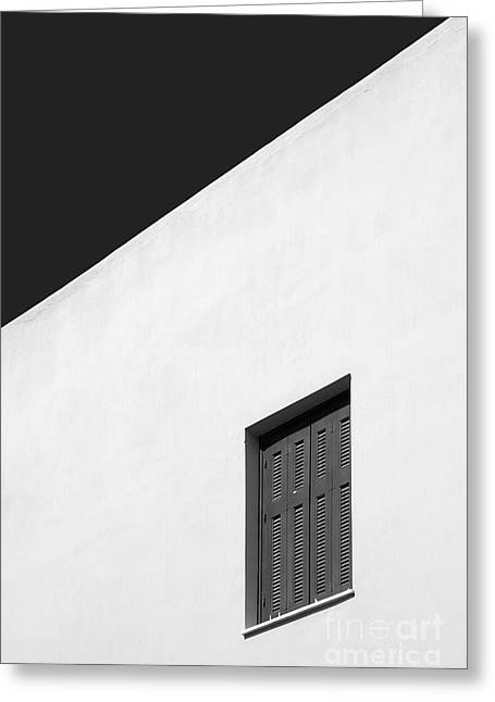 Plaka Greeting Cards - Shuttered Window Greeting Card by Rod McLean