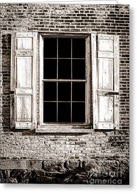 Broken Shutters Greeting Cards - Shutters Greeting Card by Olivier Le Queinec