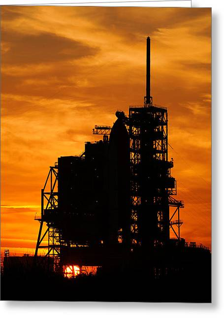 Shuttle Silhouette Greeting Card by Ricky Barnard