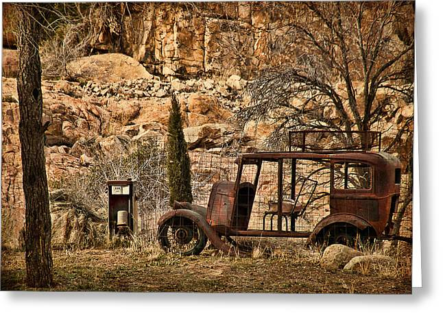 Watson Lake Greeting Cards - Shuttle Transport Greeting Card by Priscilla Burgers