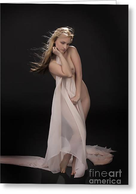 Shy Nude 1133.02 Greeting Card by Kendree Miller