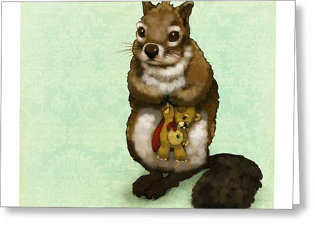Hunters Moon Greeting Cards - Shy Squirrel Greeting Card by Catherine Noel