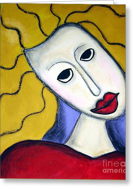 Fauvist Style Greeting Cards - Shy Greeting Card by Venus