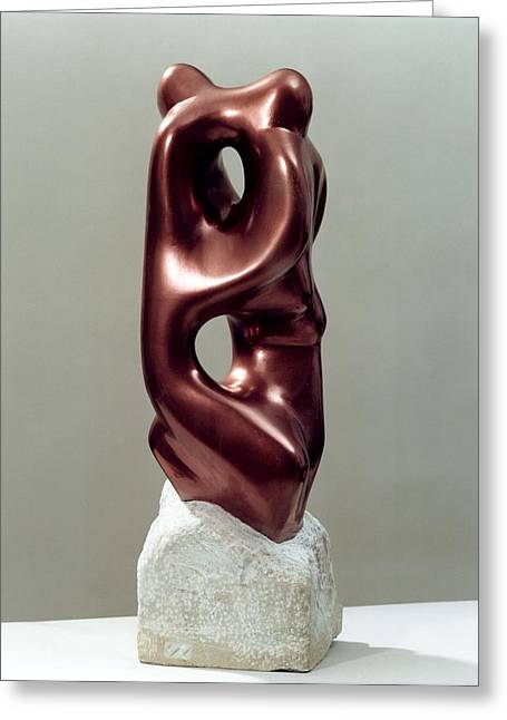 Sculpture Greeting Card Sculptures Greeting Cards - Siamese Twins Greeting Card by Shimon Drory