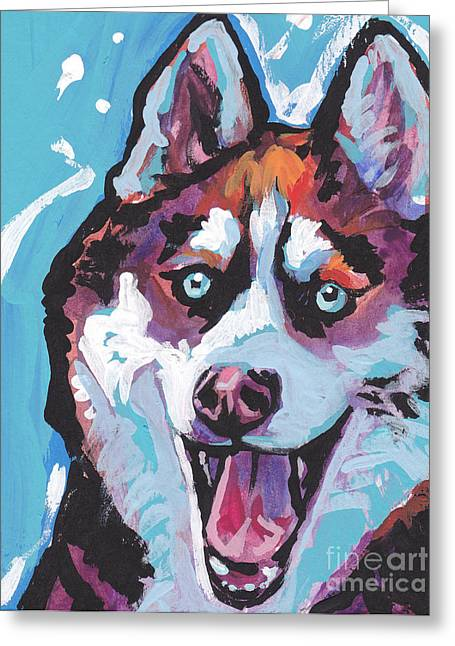 Husky Greeting Cards - Sibe by sibe Greeting Card by Lea