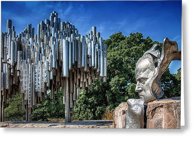 Statue Portrait Photographs Greeting Cards - Sibelius Greeting Card by Catherine Arnas