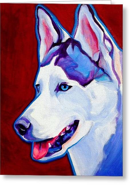 Siberian Husky - Arctic Smile Greeting Card by Alicia VanNoy Call