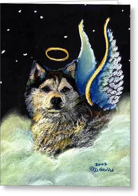 Husky Pastels Greeting Cards - Siberian Husky Greeting Card by Darlene Grubbs