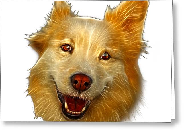 Mixed Labrador Retriever Greeting Cards - Siberian Husky Mix Dog Pop Art - 5060 WB Greeting Card by James Ahn