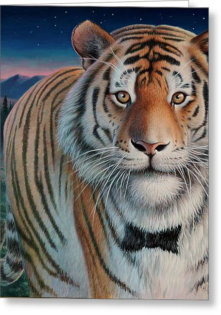 Wildcats Greeting Cards - ZooFari Poster The Siberian Tiger Greeting Card by Hans Droog