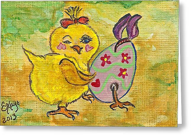Whimsical. Greeting Cards - Sibling Rivalry Greeting Card by Ella Kaye Dickey