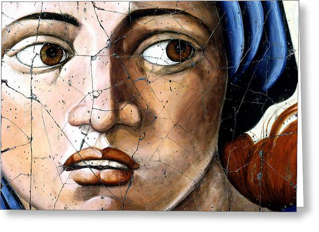 Faces Greeting Cards - Sibyl of Delphi - Study No. 1 Greeting Card by Steve Bogdanoff