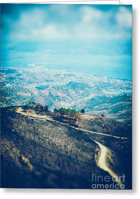 Sea View Greeting Cards - Sicilian land after fire Greeting Card by Silvia Ganora