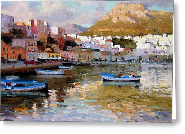 Roelof Rossouw Greeting Cards - Sicilian Summer Evening Greeting Card by Roelof Rossouw