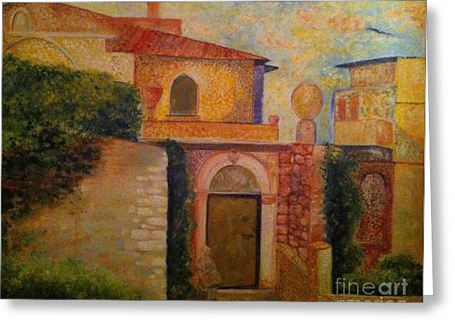 B Russo Greeting Cards - Sicilian Sun Greeting Card by B Russo