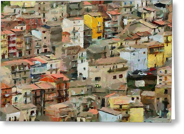 Watercolour Interior Greeting Cards - Sicily Italy 2 Greeting Card by Yury Malkov
