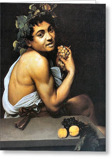 Michelangelo Caravaggio Greeting Cards - Sick Bacchus  Greeting Card by Michelangelo Merisi da Caravaggio