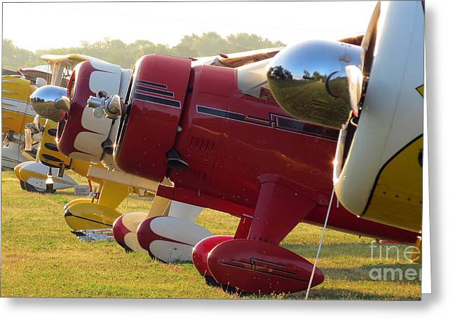 Pandute Digital Art Greeting Cards - Side by Side. Oshkosh 2012 Greeting Card by Ausra Paulauskaite
